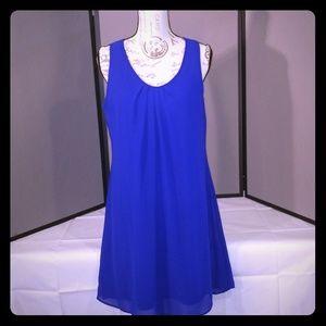 Blue My Michelle Mini Dress Size Large